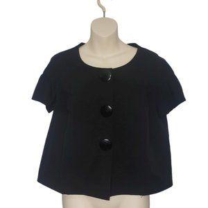 KENSIE black 3 button blouse medium